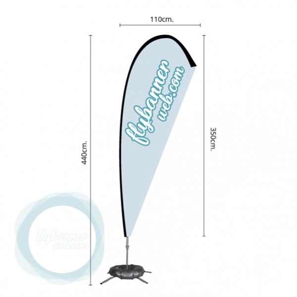 fly banner lagrima 5m